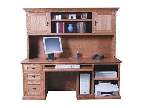 Forest Designs 78w Mission Desk & Hutch 78w Merlot Oak