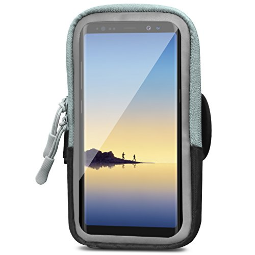 MoKo Sports Armband, Multifunction Arm Bag for Running, Workout, Fitness, Cellphone Pouch Bag with Clear View Touch Screen Window for Galaxy Note 8/S9+/S9/S8, iPhone X/8 Plus/8/7 Plus/6s – Black