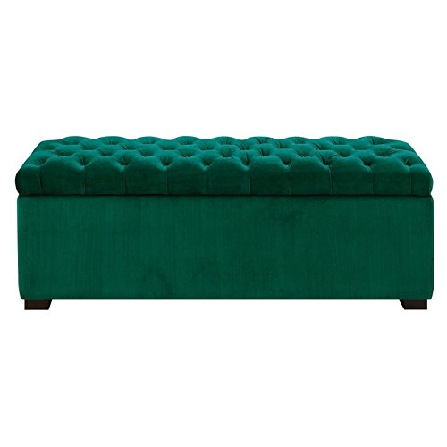 Picket House Furnishings Carson Shoe Storage Bench in Emerald
