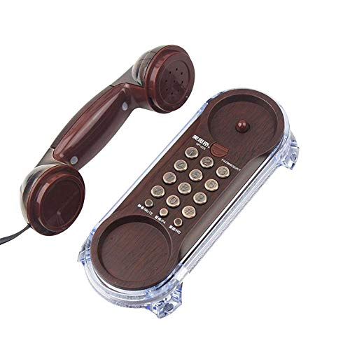 Urnanal Antique Retro Telephone Corded Phone Landline Fashion Telephone Blue Backlight for Home Kitchen Hotel (Land Line Flip Phone)
