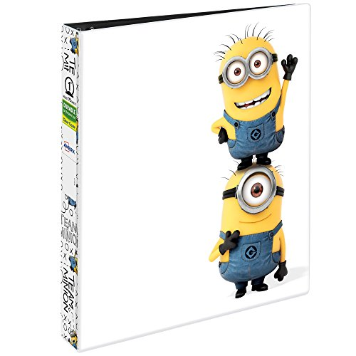 "Avery Despicable Me Durable View Binder, 1"" Round Rings, 175-Sheet Capacity, Team Minion (28302) (Sheet Rings 175)"