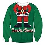 Tiandino Women Pullover Hoodie Dress Tunic Sweatshirt, Slim Fit Christmas Long Sleeve Antler Pullover Hooded Tops Green