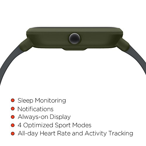 Amazfit Bip Smartwatch by Huami with All-day Heart Rate and Activity Tracking, Sleep Monitoring, GPS, Ultra-Long Battery Life, Bluetooth, US Service and Warranty (A1608 Green) by Amazfit (Image #6)