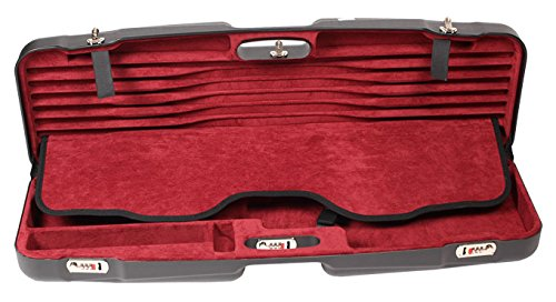 Negrini Compact Shotgun Tube Set Case,34.7x11.5x4.9in,Barrel 34-1/2in and Tube Sets,Black/Bordeaux