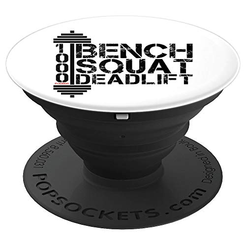 Bodybuilding Workout Powerlifting Bodybuilder Gift - PopSockets Grip and Stand for Phones and Tablets (Therapy Galaxy Bench)