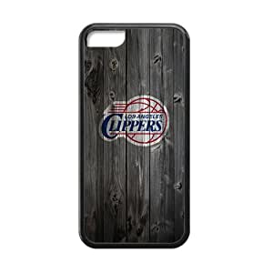 NBA Forever Collectibles iPhone5C Vintage Wood Pattern Snap On Case Cover Logo Case Plastic and TPU
