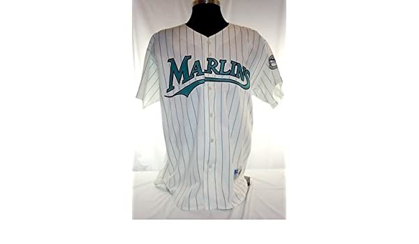 0a0cd8e65 Miami Florida Marlins Vintage Russell Pinstripe Jersey w Jackie Robinson  Patch at Amazon s Sports Collectibles Store