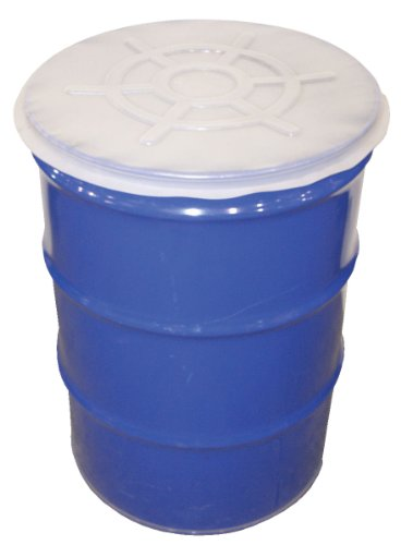 Closed Head Steel Drums (Vestil DC-TP Clear Plastic Cover for 55 gallon Closed Steel Head Drum, Pack of 5)