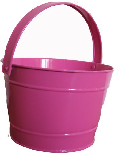 Twigz Kids Gardening Bucket - Steel - Pink