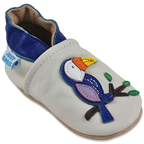 (Baby Shoes Soft Sole Leather - Baby Girl Shoes - Toucan 6-12 Months)