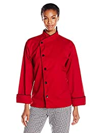 Uncommon Threads womens Panama Chef Coat 5 Button W/Piping