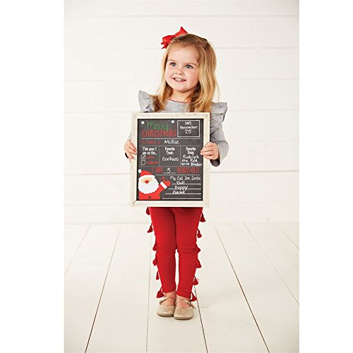 Mud Pie Double Sided Halloween/Christmas Chalkboard, One Size
