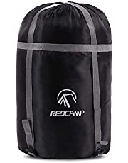 REDCAMP Sleeping Bag Stuff Sack, Black M, L, XL and XXL Compression Sack, Great for Backpacking and Camping