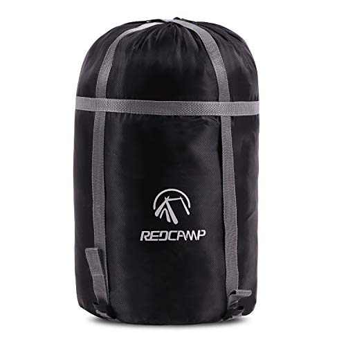 REDCAMP Sleeping Bag Stuff Sack, Compression Sack, Great for Backpacking and Camping Black M