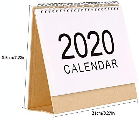 Tischkalender 2019-2020 Monatskalender Stand Up Office Tischplaner Datum Notizblock Lehrer, Familie Oder Geschäftsstelle Kalenderuntersätze