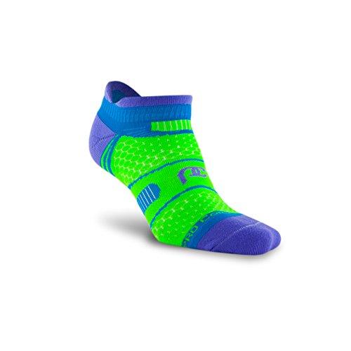 PRO Compression: PC Runner (Low-Profile) Compression Socks, Lavender/Green, (Triathlon Low Cut)