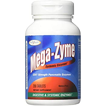 Amazon Com Enzymatic Therapy Mega Zyme 200 Tablets