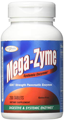 Enzymatic Therapy - Enzymatic Therapy Mega-zyme, 200 Tablets