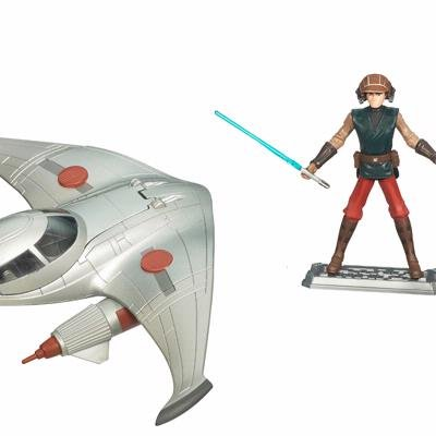 Star Wars The Clone Wars Naboo Star Skiff with Anakin -