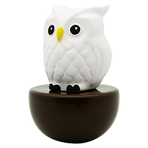 - Lively Breeze Blinky Owl, Non-Electric Ceramic Diffusers for Essential Oils and Aromatherapy Fragrance, White Ceramic Diffusers in Car or Desk Office Decor and Small Bathroom at Home, Brown Vase