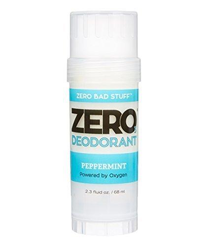 ZERO Deodorant - Oxygen Powered De-Stinkerizer - Long Lasting, All Natural, Safe for Sensitive Skin - Peppermint by Zero (Peppermint Deodorant)