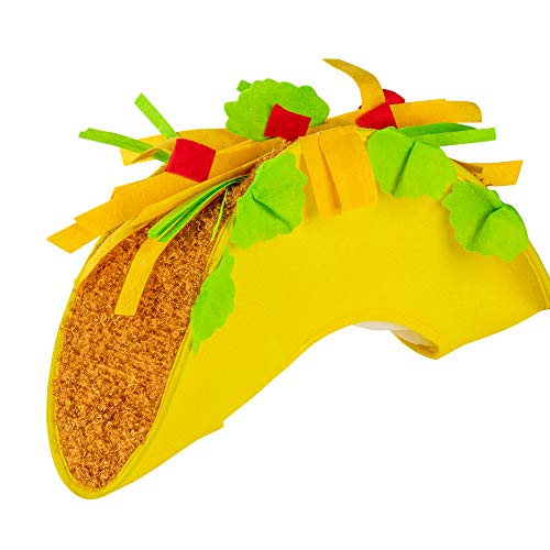 Juvale Fiesta Taco Hat Novelty Costume Accessory for Cinco de Mayo, Photo Booth Prop, and Parties, Adult -