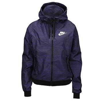 1 Nike Windrunner L Bleu Veste Femme Print Allover Pour 6YTwHY