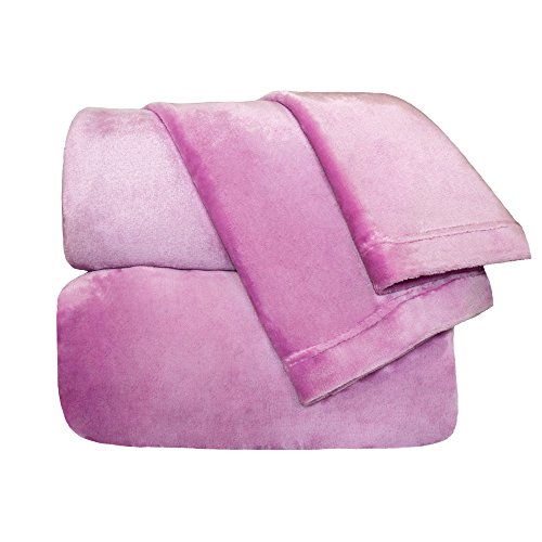 Cozy Fleece Comfort Collection Velvet Plush Sheet Set, Queen, Orchid, 1 Sheet Set