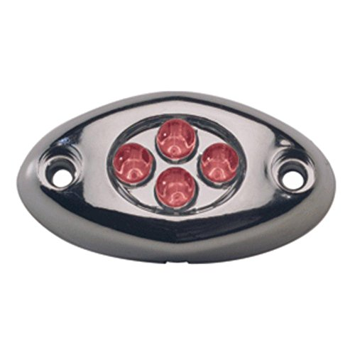 Innovative Lighting Courtesy Light - 4 LED Surface Mount - Red LED/Chrome Case consumer electronics