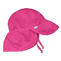 i play. Solid Flap Sun Protection Hat, Hot Pink, Toddler (2 4 Years)