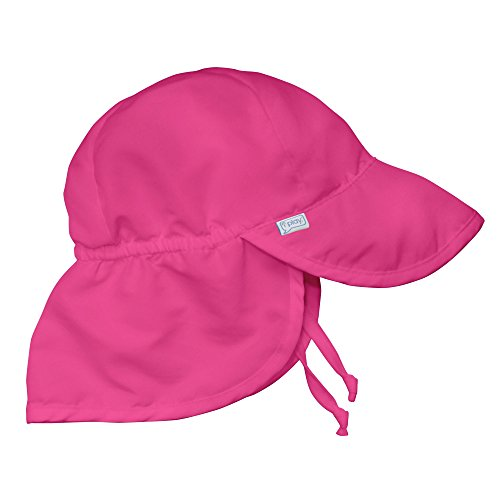 i play. Flap Sun Protection Hat | UPF 50+ all-day sun protection for head, neck, & eyes Pink 2T-4T