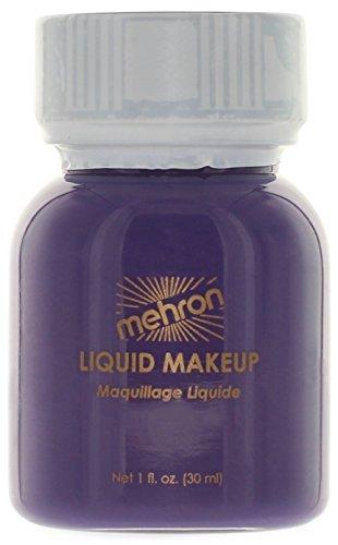 Create Your Own Vampire Costume (Mehron Liquid Face Paints - Purple P (1 oz))