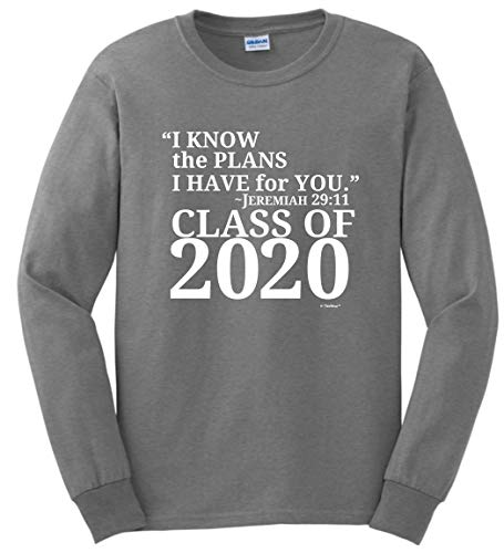 Christian Graduation Gift Jeremiah 29:11 Class 2017 Long Sleeve T-Shirt