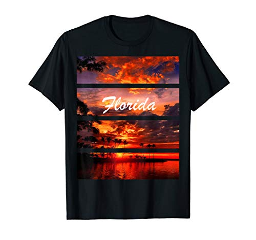 Mens Florida Sunset Nature of State T-Shirt for Women and Men XL Black