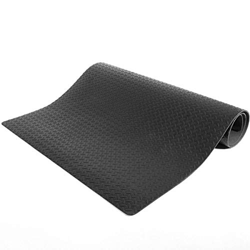 9TRADING Treadmill Mat Water Resistant Health & Fitness Gym Exercise Yoga Diamond Black