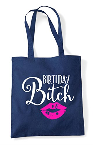Birthday Tote Navy Bag Kisses Bitch Shopper 6n6xpqUwaf