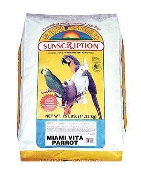 Sun Seed Company BSS14445 Miami Vita Mix Parrot Food, 25-Pound, My Pet Supplies