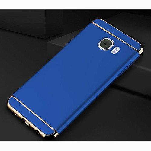 Samsung Galaxy A5 (2017) Hülle, MSVII® 3-in-1 Design PC Hülle Schutzhülle Case Und Displayschutzfolie für Samsung Galaxy A5 (2017) - Blau JY50167