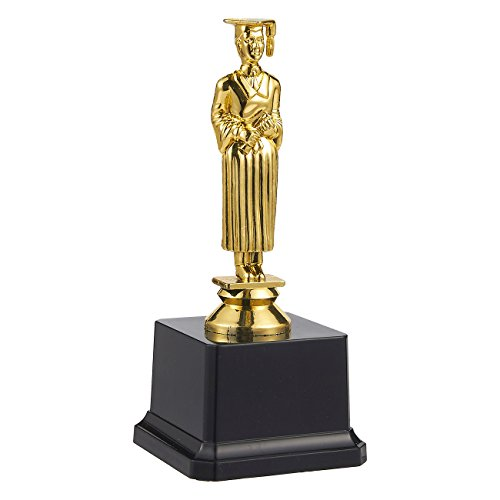 Juvale Academy Trophy - Gold Award Trophy for Academic Competitions, Parties, 3 x 6.8 x 3 Inches ()