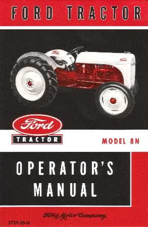 1948 1949 1950 1951 1952 Ford 8 N Tractor Owners Manual: Amazon.es: Coche y moto