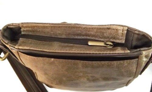 Borsello messenger in pelle -Vero Artigianato italiano -L22xH24xP5 cm MOD : Pachito vintage