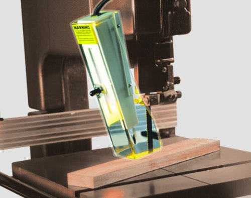 Band Saw Guard with Light HTC A100-16 Brett Guard, Clear Acrylic Guard That Makes it Easy to use