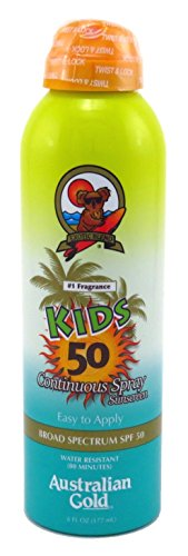 Australian Gold Continuous Spf#50 Spray 6 Ounce Kids (177ml) (3 Pack)