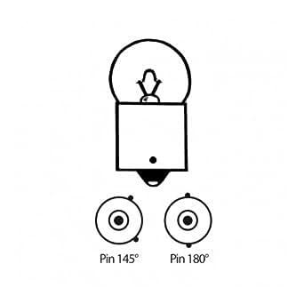 Birne 12V 10W, gelb nur für Blinker oval 284291, versetzter Pin 145°, Sockel RY