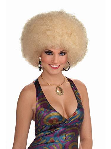 Blonde Afro Wig Costume (Forum Novelties Women's 70's Disco Doll Afro Wig)