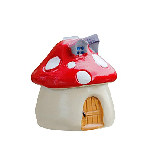 Freedi Micro-landscape Mushroom Home Artificial Mini Garden Miniature DIY Accessories Home Decoration (Red) Review
