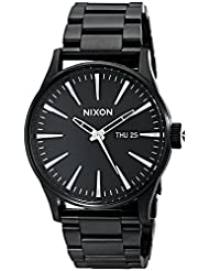 NIXON Men's A356-001 Stainless Steel Analog Black Dial Watch