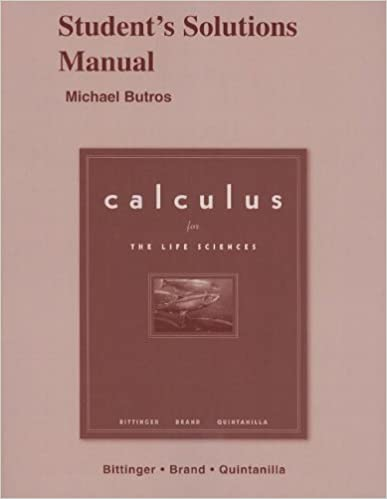 Calculus for the life sciences students solutions manual michael calculus for the life sciences students solutions manual 1st edition fandeluxe Images