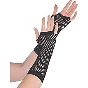Medias de corto mano guantes tutú de fiesta Fancy Dress (negro)