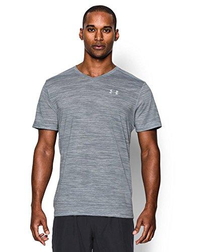 Under Armour Men's Streaker Run V-Neck T-Shirt, Overcast Gray/Overcast Gray, X-Large